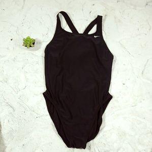 Nike Womens Sz 14 One Piece Swimsuit Black